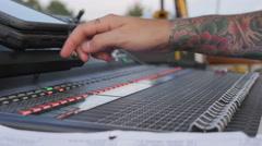 Music Festival Concert, Soundboard 4 Stock Footage