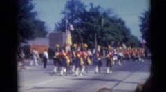 1967: marching band in parade CAMDEN, NEW JERSEY Stock Footage