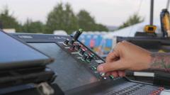 Music Festival Concert, Soundboard 2 Stock Footage