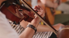 Music Festival Concert, Violin Closeup 1 Stock Footage