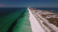White Sandy Beaches along northwest Florida Stock Footage