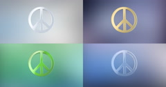Peace 3d Icon Stock Footage