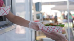 Music Festival, Serving Food 2 Stock Footage