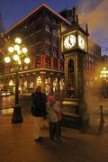 The Steam Clock, Gastown, Vancouver, British Columbia, Canada Stock Photos