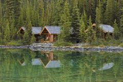 Lake O'Hara Lodge Cabins, Yoho National Park, British Columbia, Canada Stock Photos