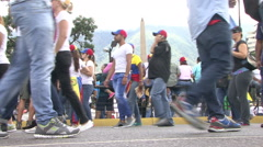 Protest for freedom in Venezuela, Against communism, Against socialism Stock Footage