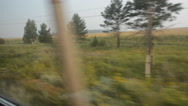 Window view from a moving train Stock Footage