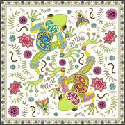 Fantastic adult coloring page Stock Illustration