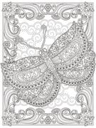 Graceful adult coloring page Stock Illustration