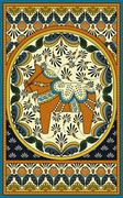 Elegant adult coloring page Stock Illustration