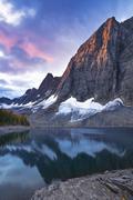 The Rockwall at Floe Lake, Kootenay National Park, British Columbia, Canada Stock Photos