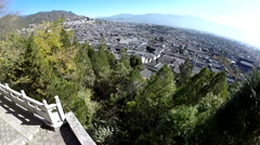 Drone China Lijiang Ancient City Skyview Stock Footage