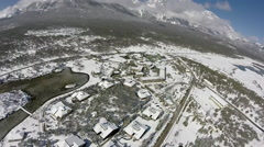 Drone China  Lijiang Highway Skyview Stock Footage
