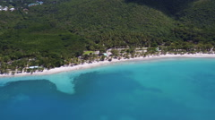 Aerial view of Magens Bay, St Thomas Stock Footage