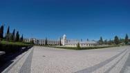 Lisbon, Portugal, Belém. Fountain named Luminosa. Stock Footage