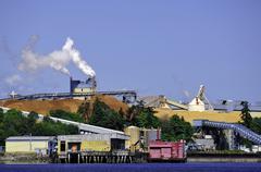 Catalyst Pulp Mill in Crofton, British Columbia, Canada Stock Photos