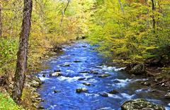 Little River, Great Smoky Mountain National Park, Tennessee, USA. Stock Photos