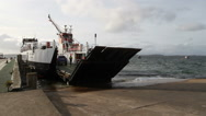 Calmac ferry departing Tayinloan Scotland Stock Footage