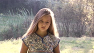 Romantic young girl Stock Footage