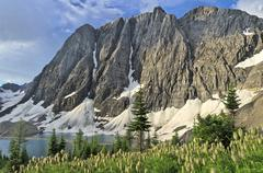 The Rockwall at Floe Lake, Kootenay National Park, British Columbia, Canada Stock Photos