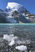Ice chunks calved from Berg Glacier in Berg Lake, Mount Robson Provincial Park, Stock Photos
