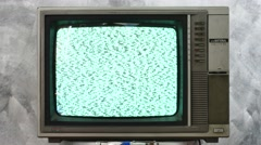 Analog TV with signal bad interference. Stock Footage