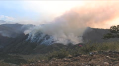 The High Park fire in Colorado burns across a mountainside. Stock Footage
