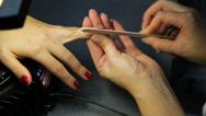 Women's manicure, Nail Polish Stock Footage