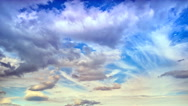 Clouds over the hill timelapse panorama Stock Footage