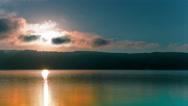 4k.Sea or lake  morning sunrise time. Timelapse  without birds.  Stock Footage