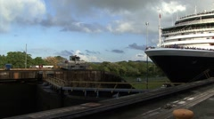 Ship Entering Panama Canal Time Lapse Stock Footage