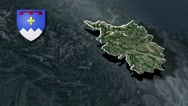 Alpes-de-Haute-Provence with Coat Of Arms Animation Map Stock Footage