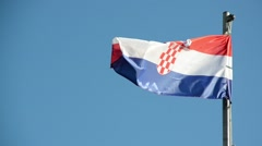 Croatian flag waving Stock Footage
