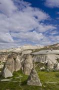 Hoodoos in unique landscape near Goreme, Cappadocia, also Capadocia, Central Stock Photos