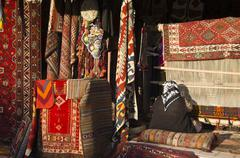 Rug shop with weaver at Goreme, Cappadocia, also Capadocia, Central Anatolia, Stock Photos