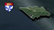 Gironde with Coat Of Arms Animation Map Stock Footage
