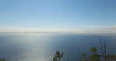 Baikal lake. Aerial view, 4K. Stock Footage