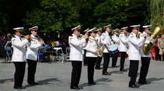 Orchestra of the Navies of Ukraine. Stock Footage