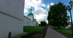 Pyatnitskaya tower, the path of the rampart, the Gate Church Stock Footage