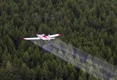 Spruce Budworm Spray Project, British Columbia, Canada. Stock Photos