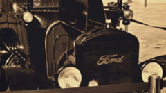 Ford Model T from 1921 parked on a city street Stock Footage