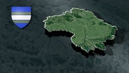 Marne with Coat Of Arms Animation Map Stock Footage
