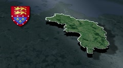 Orne with Coat Of Arms Animation Map Stock Footage