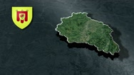 Puy-de-Dome with Coat Of Arms Animation Map Stock Footage