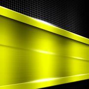 Yellow metal frame on black metallic mesh. Stock Illustration