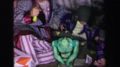 1972: kids playing with toys on christmas LYNBROOK, NEW YORK Stock Footage