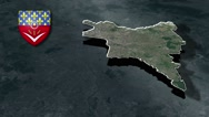 Seine-Saint-Denis with Coat Of Arms Animation Map Stock Footage