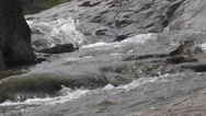 River Flows Over Big Rocks of The Mountains Waterfall Nature Scenery Stock Footage