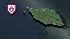 Vendee with Coat Of Arms Animation Map Stock Footage