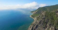 Baikal lake, Sennaya pad'. Aerial view, 4K. Stock Footage